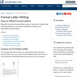 How to Write a Formal Letter - Writing Tips - UsingEnglish.com