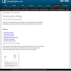 How to Write a Formal Letter - Writing Tips