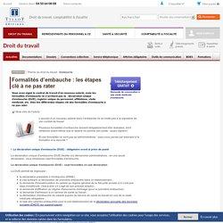 Formalités d'embauche : les étapes clé à ne pas rater - Editions Tissot