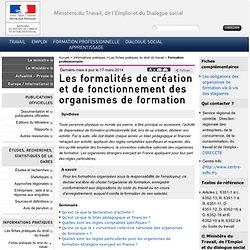 Les formalités de création et de fonctionnement des organismes d