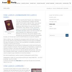 VISA LAOS, les formalités obtenir un visa Laos.Conseil Avant-de-partir