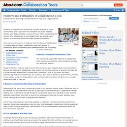 Features and Formalities of Collaboration Tools