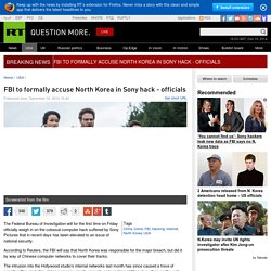 FBI to formally accuse North Korea in Sony hack - officials