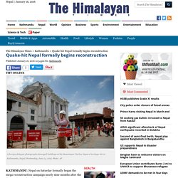 Quake-hit Nepal formally begins reconstruction