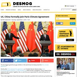 US, China Formally Join COP21