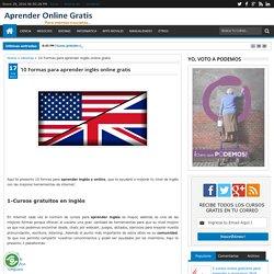 10 Formas para aprender inglés online gratis ~ Cursos Online Gratis