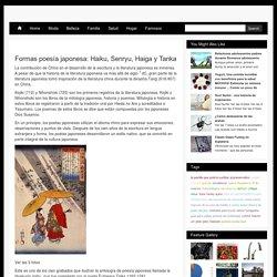 Formas poesía japonesa: Haiku, Senryu, Haiga y Tanka / radikewl