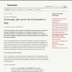 Formaspip, plus qu'un site de formation à Spip - boson2x