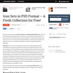 Icon Sets in PSD Format - A Fresh Collection for Free! | Freebies