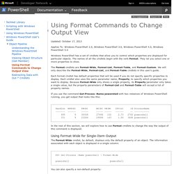 Using Format Commands to Change Output View
