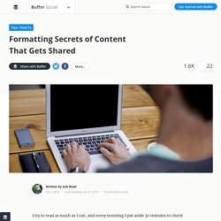 How to Format Content for Sharing on Social Media