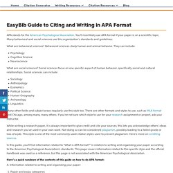 APA Format: Everything You Need to Know Here - EasyBib