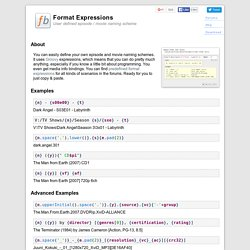 Format Expressions