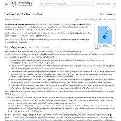 Format de fichier audio