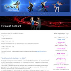 Format of the Night - Ceroc and Modern Jive Dance Company