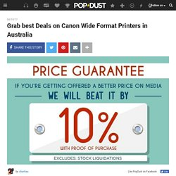 Grab best Deals on Canon Wide Format Printers in Australia