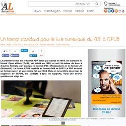 Un format standard pour le livre numérique, du PDF à l'EPUB
