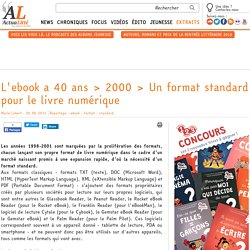 L'ebook a 40 ans > 2000 > Un format standard pour le livre numérique