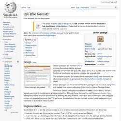 deb (file format)