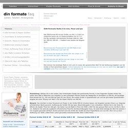 DIN - Formate A0 A1 A2 A3 A4 A5 A6 A7 A8 A9 A10 in mm und Pixel