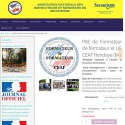PAE de Formateur de formateur et UE CEAF Hendaye (64) - ANIMS