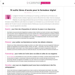 10 outils libres d'accès pour le formateur digital