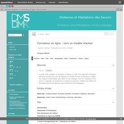 Formateur en ligne: vers un modèle d'action