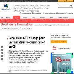 Recours au CDD d'usage pour un formateur : requalification en CDI