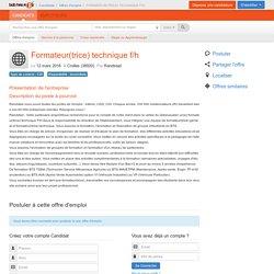 FORMATEUR(TRICE) TECHNIQUE F/H - Bobhasajob.com