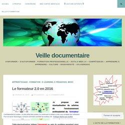 Le formateur 2.0 en 2016 – Veille documentaire