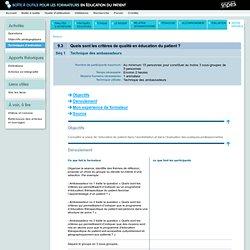 Boîte à outils pour les formateurs en éducation du patient