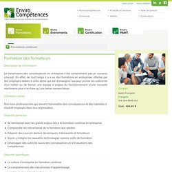 Formation des formateurs » EnviroCompétences