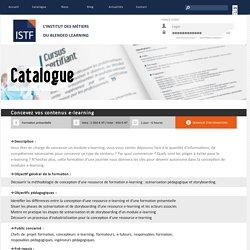 Formation de formateurs en ingénierie e-learning, présentiel et blended learning - Concevez vos contenus e-learning