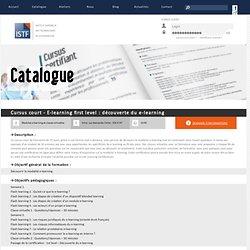 Formation de formateurs en ingénierie e-learning, présentiel et blended learning - Cursus court - E-learning first level : découverte du e-learning