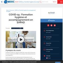 MOOC COVID-19 : Formation hygiène et accompagnement pour le personnel soignant en EHPAD