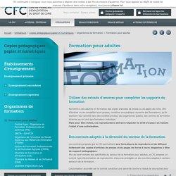 Formation pour adultes - CFC, gestion des droits de reproduction
