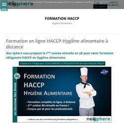 Formation en ligne HACCP Hygiène alimentaire à distance