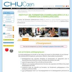 Institut de Formation d'Ambulanciers (I.F.A.)formation d'ambulanciers - CHU de Caen