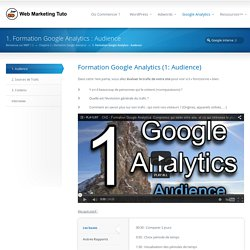 1. Formation Google Analytics : Audience - Web Marketing Tuto Web Marketing Tuto