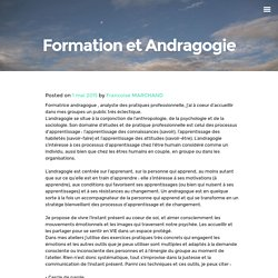 Formation et Andragogie -