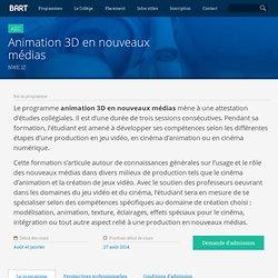 Collège Bart - Animation 3D en nouveaux médias NWE.1Z (AEC)