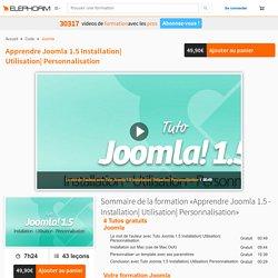 Apprendre Joomla 1.5 Installation