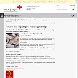 Formation Aide-soignante par la voie de l'apprentissage - Institut de formation Croix-Rouge - Occitanie