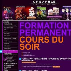Fomation permanente des arts appliqués - Cours du soir - Stages