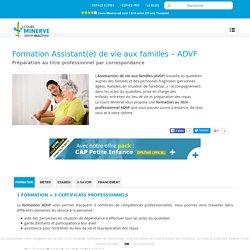 Formation Assistant de vie aux familles - Devenir ADVF