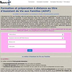 Formation et titre d'Assistant de Vie aux Familles