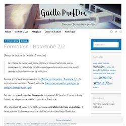 #Retour sur formation : Booktube 2/2 – Gaëlle ProfDoc
