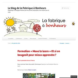 Formation «Move to learn Et si on bougeait pour mieux apprendre ?