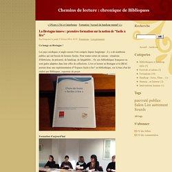 """La Bretagne innove : première formation sur la notion de """"facile à lire"""" - Chemins de lecture : chronique de Bibliopass"""