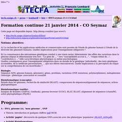 Formation CO Seymaz 2014